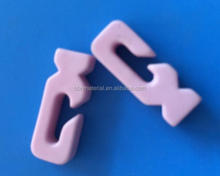 Alumina Hook Guides TEXTILE MACHINERY CERAMICS Pink
