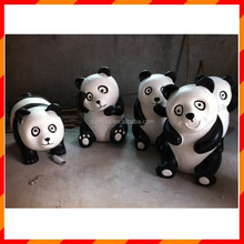 Factory sale light weight fiberglass panda statue for garden