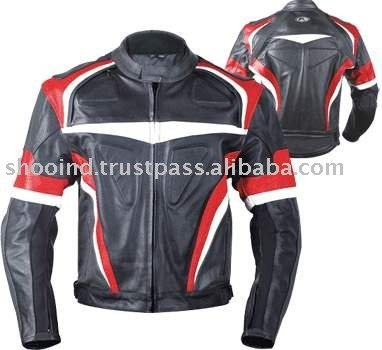 Motorcycle and Auto Racing Wear Leather Motorcycle Jacket