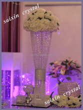 New design of crystal vase for wedding table centerpieces