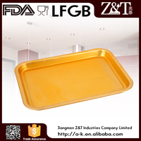 Yellow color Aluminum fruit tray