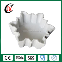 Custom Ceramic Snowflake Baking Rice Ramekin Cake Mould for Oven