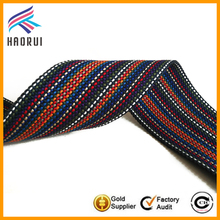 Custom colored stripe 2 inch polyester webbing