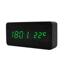 Hot selling wooden flip clock with alarm digital wooden flip clock large wooden flip clock
