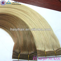 Direct Hair Factory Price Brown/Blonde Mixed Human Hair Extensions