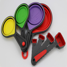 Hot Selling Amazon foldable measuring cup set collapsible measuring spoon and cup