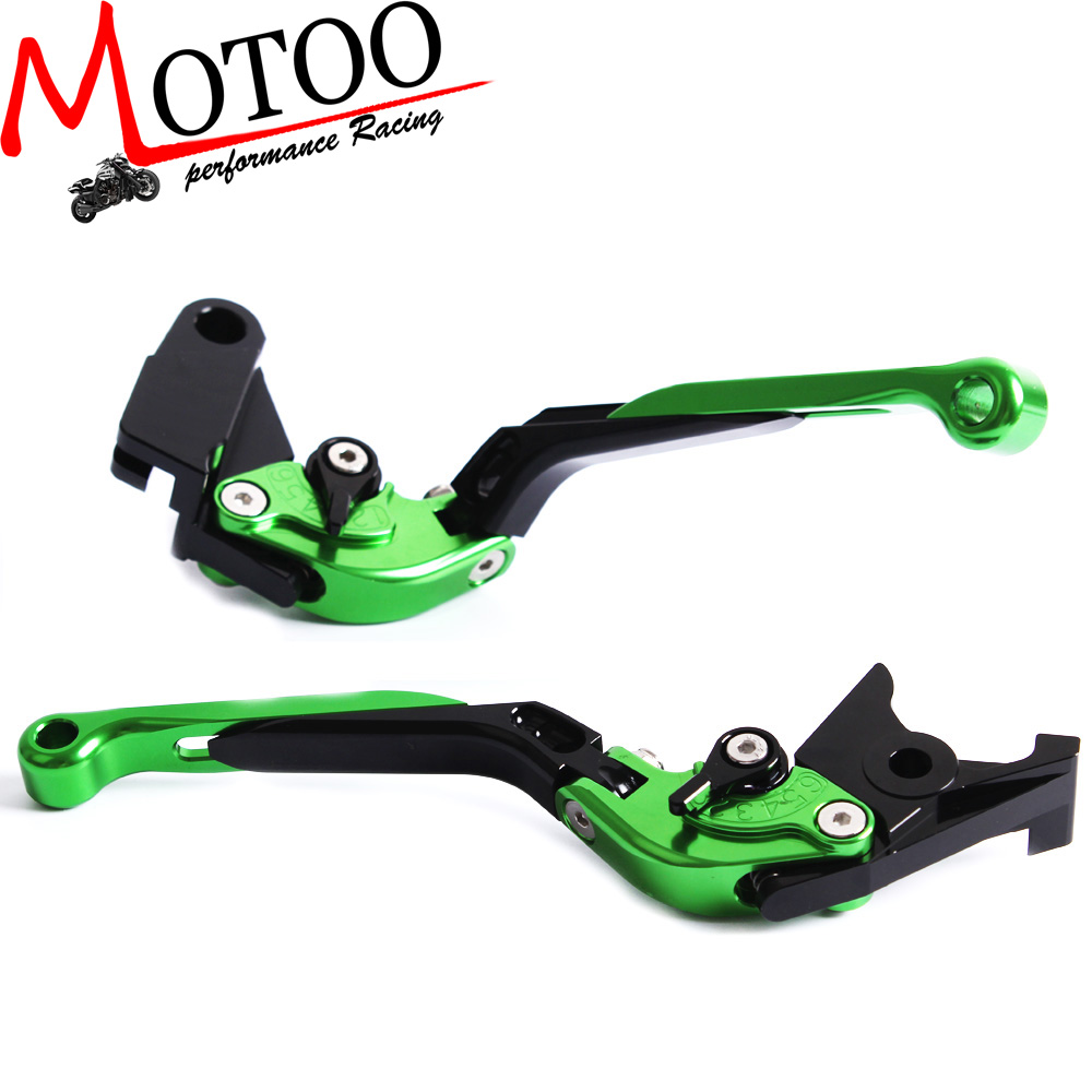 F-<strong>14</strong> <strong>K</strong>-750 Adjustable CNC 3D Extendable Folding Brake Clutch Levers For Kawasaki ZX-6 /ZZR600 ZR750 ZEPHYR