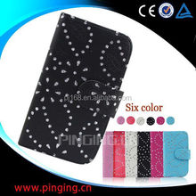 china supplier phone cases snow flower cover leather case for HTC Ruby Amaze 4g
