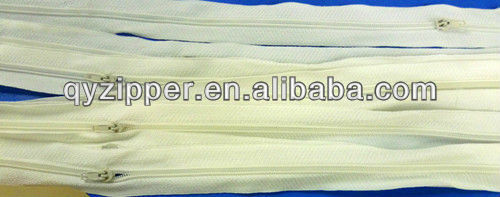 NO.3 nylon zipper with P/L slider 150cm for bedding
