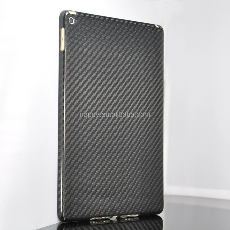 NAPOV - 100% carbon fiber case for ipad air, for ipad air 2 carbon fibre case, for ipad 5 real carbon fiber cases
