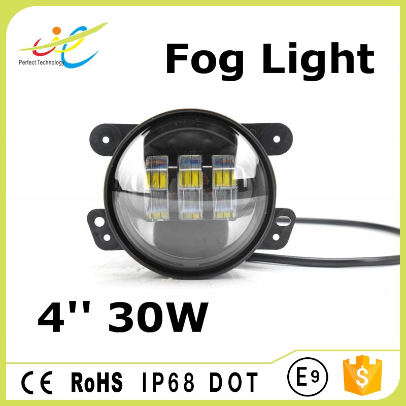 4inch 30w led fog light for jeep wrangler fog lamps