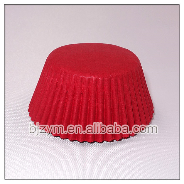 Plain color red/white paper round cupcake mould baking cups muffin cases with Standard export package