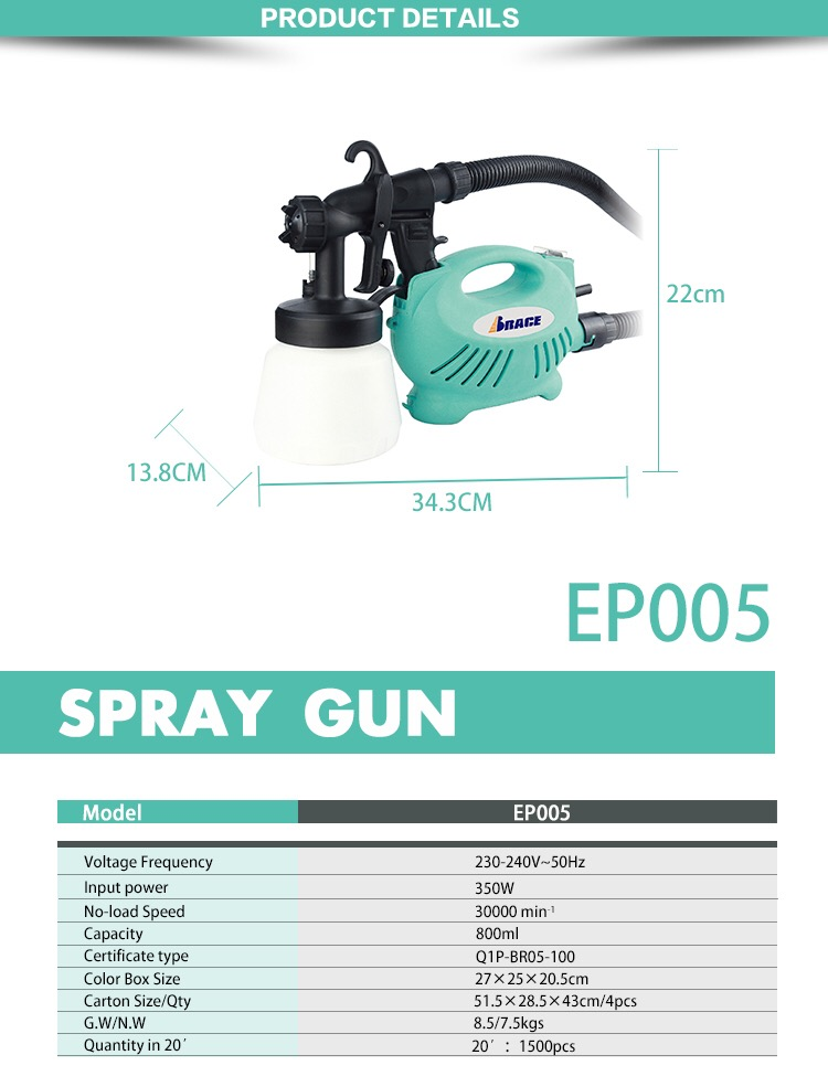 Top quality convenient cheap airless paint sprayer portable