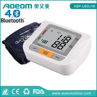 Free APP for iPhone Android phones BLE 4.0 digital blood pressure monitor, bluetooth blood pressure monitor