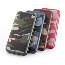 Ultra Thin Slim Magnetic Camouflage Leather Flip Case for iPhone X , for iPhone X Leather Cases