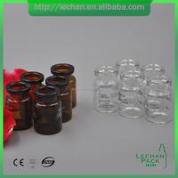 1ml 2ml 3ml 5ml 10ml 15ml clear amber mini glass bottle for pharmaceutical