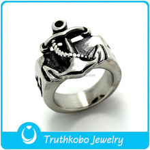 TKB-R0110 Men's Infinity anchor jewelry silver stainless steel fashion anchor rings popular in Europe and America