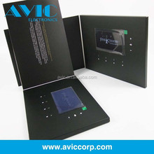 Factory supply 4.3 inch customized video brochure video greeting card with lcd screen for business advertising promotion