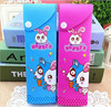Novel Korean transparent PVC cute cartoon pencil box with print for promotion
