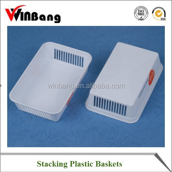 OEM All Kinds Stackable and Unbreakable Plastic Basket