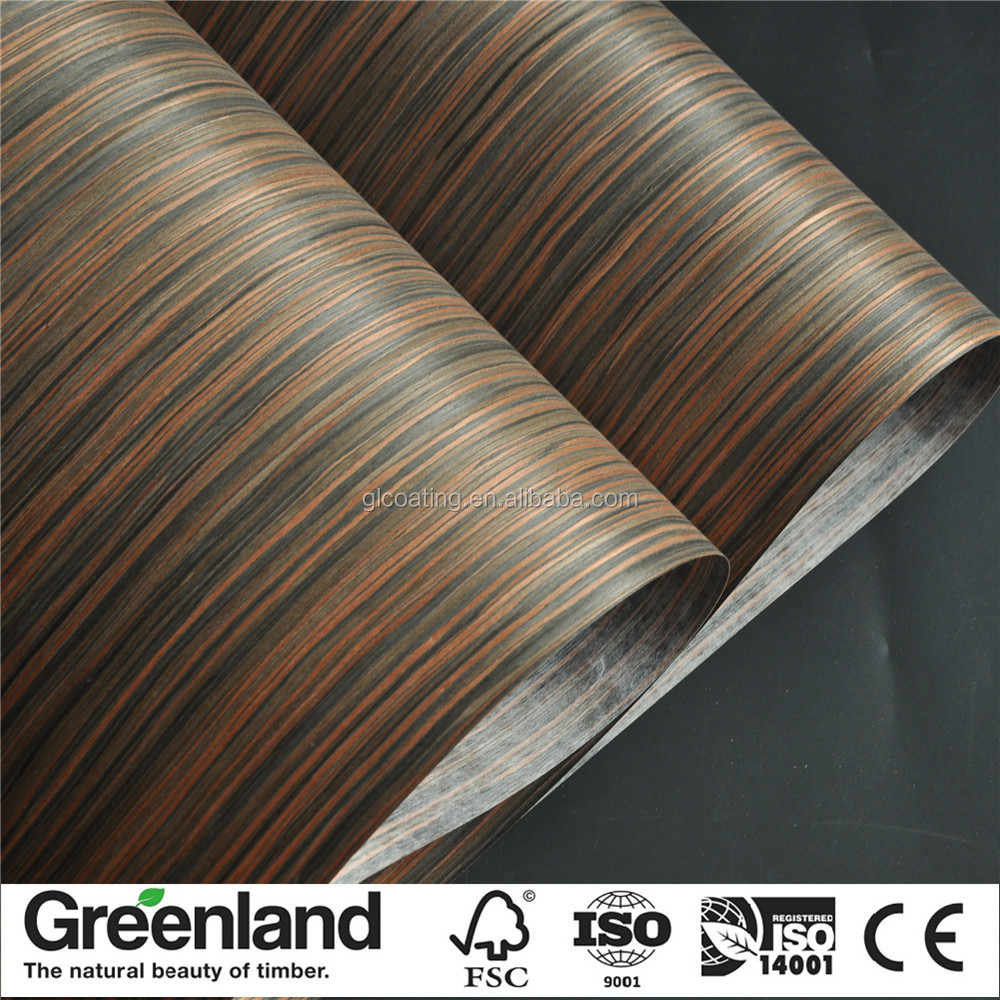 Ebony veneer artificial wooden fingerboard veneer for plywood MDF from China manufacturers