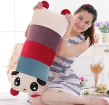 Most selling panda bear plush soft toys novelty travel pillow or cusion