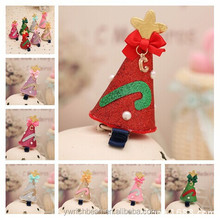 christmas hair clips kids small hair snap for slaes on stock