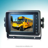 5 inch Digital TFT- LCD Color weatherproof car monitor with touch button