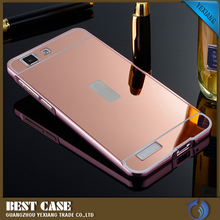 Hot selling Metal Mirror Phone Case Bumper Case Cover for VIVO V1mobile case