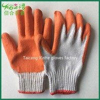 rubber coated cotton working safety glove/Oil resistant glove