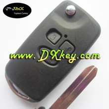 Modified key shell silicone car remote case for toyota Corolla Vios 3 buttons remote key