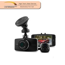 Multi function 1080p dual camera anytek car dvr with front and back lens car dvr
