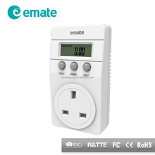 UK Plug Cost Control Energy Monitoring Power Meter Socket - L