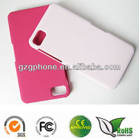 PC cellphone case for Blackberry Z10 with fluff coating