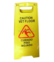 Yellow safety floor sign