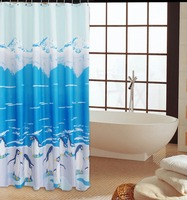 Pretty waterproof polyester bathroom shower curtains