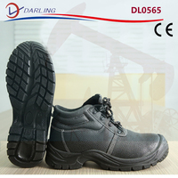 Steel toe cap S1P men boots split leather industrial work protective safety boots