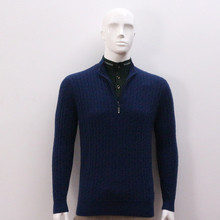 Cashmere Long Sleeve 12GG Kintted Men'S high collar Sweater