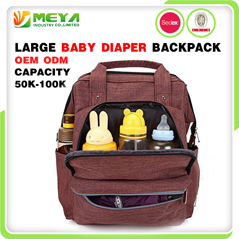 2017 3 In 1 Multifunction Nylon Waterproof Mummy Tote Canvas Travel Organizer Bean Mum Nappy Backpack Baby Diaper Bag