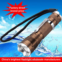 five modes rechargeable camping waterproof fast track led flashlight torch