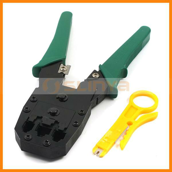 RJ45 Network Cable Crimp Wire Crimper with Cable Cutter 2-set Toolkit