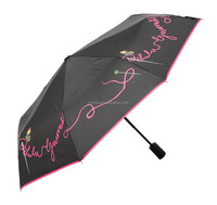 SAIVEINA chinese new style rose butterfly fold umbrella / 21 inches auto open and close sun protection umbrella