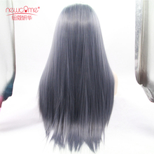 Top Selling Silky Straight Grey Synthetic Long Wigs