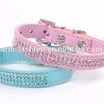 Branded Crystal Durable Einstellbare Dog Pet PU Leine Lead Dog Straps