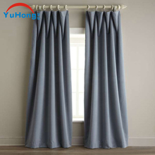 Pair Fully Lined Faux Silk Plain Manual Curtains in Eyelet or Tape Top