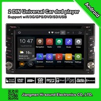 6.2inch HD touch screen 2din android dvd car radio gps wifi