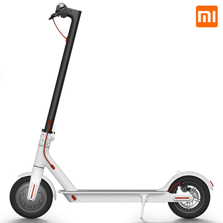 Xiaomi foldable 500W electric scooter in white color