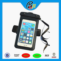 "TPU waterproof bag with arm strap for mobile phone fit size:4.8"" to 5.5"""