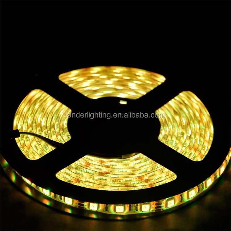 Plastic programmable DC12/24V 14.4W/M SMD2835 5050 3528 china christmas led strip light outdoor use