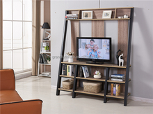 High quality cheap MDF and metal frame TV stand with shelf